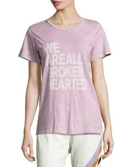 Broken Hearted Short-Sleeve Tee, Purple