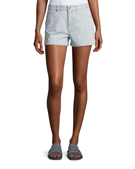 Standard Striped Shorts, Indigo