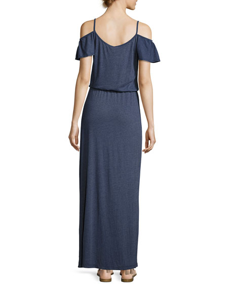 Jassina Cold-Shouler Maxi Dress, Blue