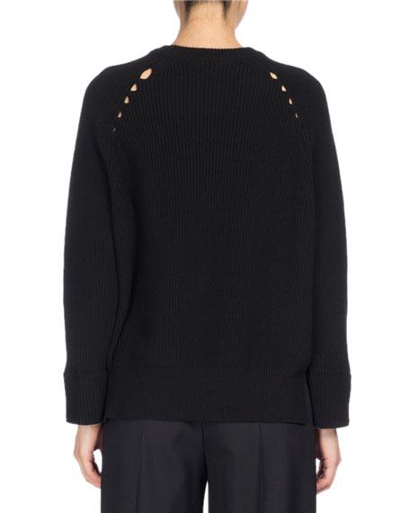 Ribbed Sport Comfort Sweater, Black