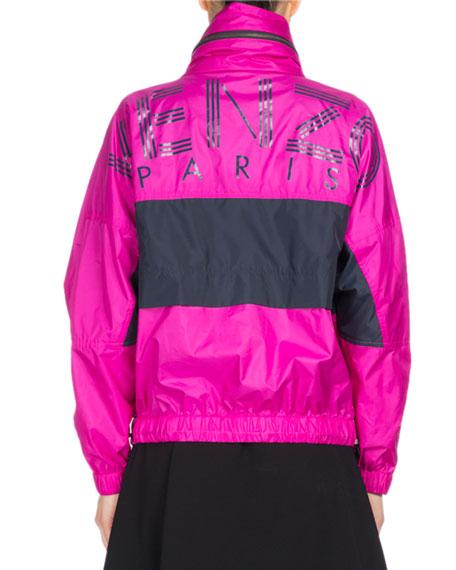 Wind-Blocking Colorblock Jacket, Fuchsia