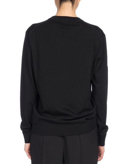 Signature Classic Pullover Sweater, Black