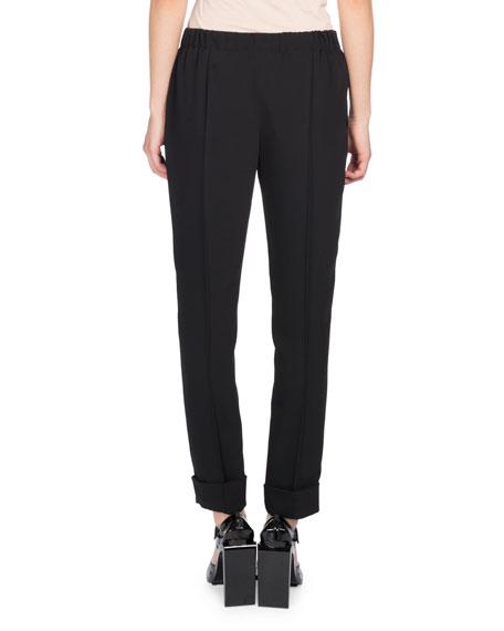 Tailored Drawstring Jogger Pants, Black