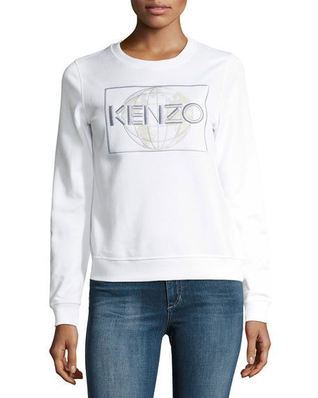 Global Crewneck Long-Sleeve Pullover Sweatshirt
