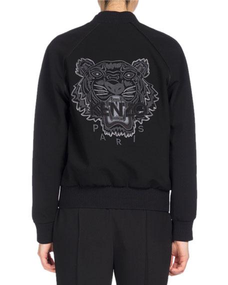 Teddy Blouson Back Tiger Jacket, Black