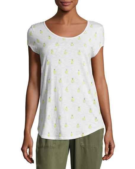 Soft Joie Jeslyn B Pineapple Cotton Top, White