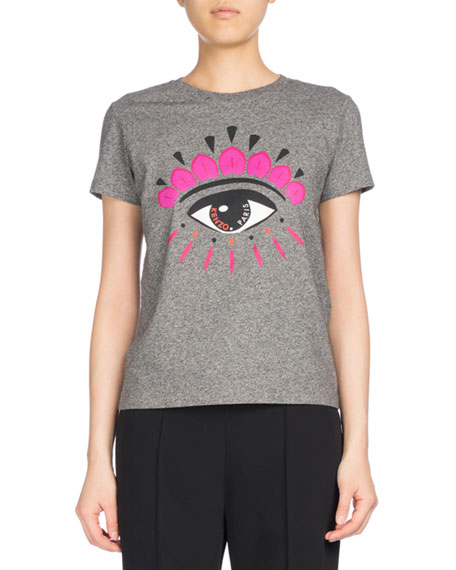 Eye Classic Cotton T-Shirt, Gray
