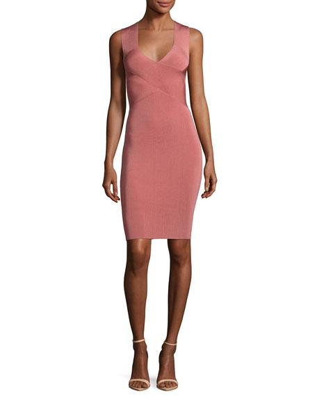 Sleeveless Crisscross Mini Dress, Pink