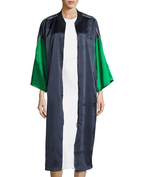 Opening Ceremony Reversible Silk Kimono Robe, Navy