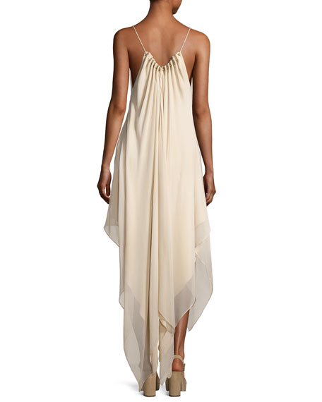 Wild Heart High-Low Maxi Dress, White