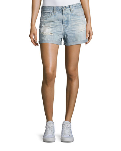 The Alex Vintage Boyfriend Denim Shorts, Indigo