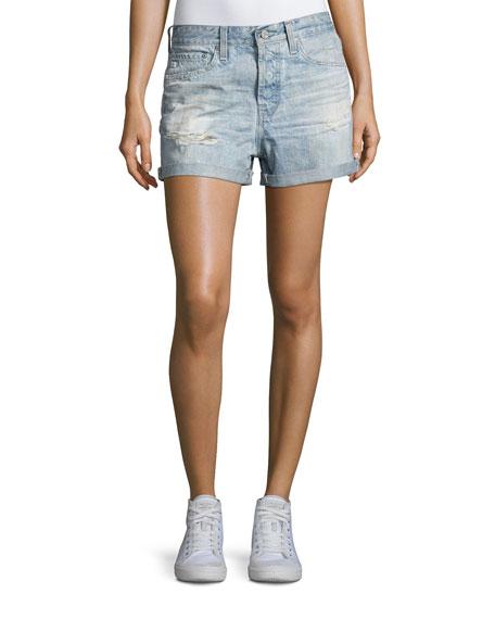 The Alex Vintage Boyfriend Denim Shorts, Indigo