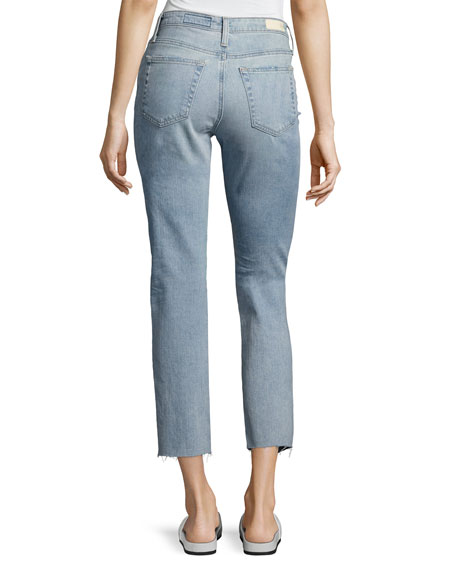 Isabelle High-Rise Straight Cropped Jeans, Blue