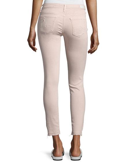 Farrah Skinny Ankle Interstellar Worn Sandalwood Jeans, Khaki
