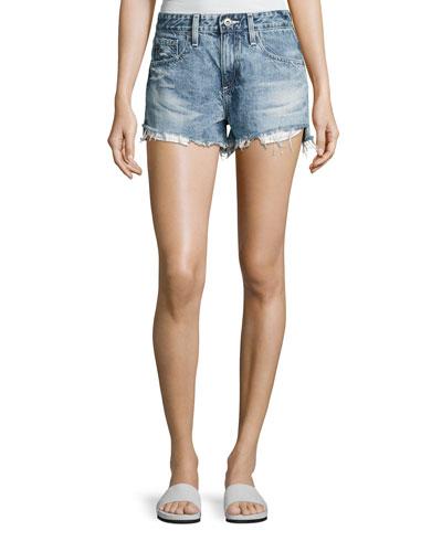 Sadie Mid-Rise Denim Shorts, Indigo