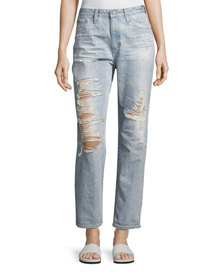 Phoebe Vintage High-Rise Jeans, Indigo