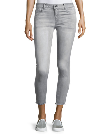 DL1961 Premium Denim Florence Instasculpt Cropped Denim Jeans,