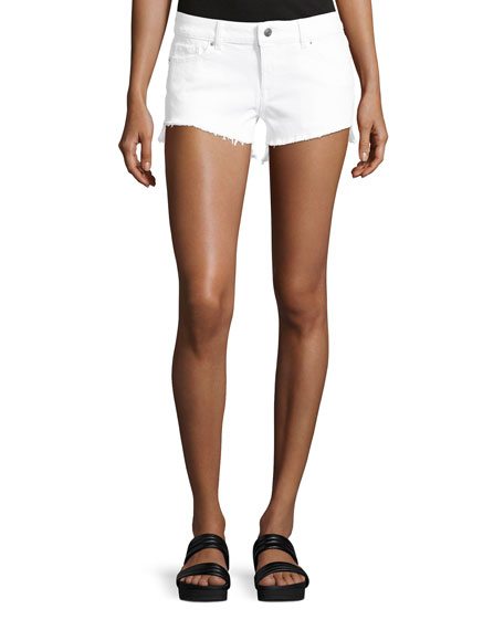 DL1961 Premium Denim Renee Cutoff Denim Shorts, White
