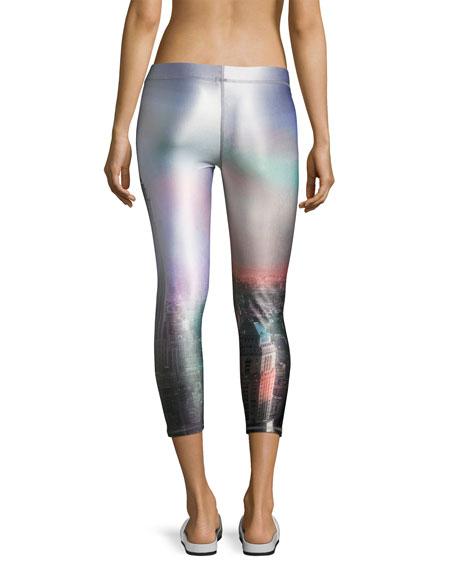 Performance Capri Leggings, Gray Pattern