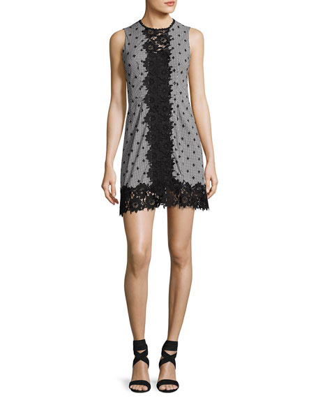 Nanette Lepore Highline Sleeveless Gingham Mini Dress,