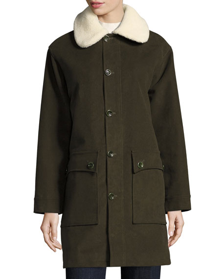Boreale Parka with Faux-Fur Trim