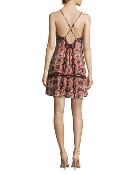 Alves Cross-Back Flared Dress, Multi