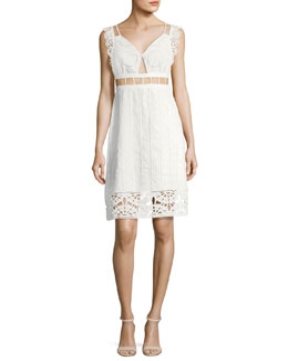 Anglaise Babydoll Sleeveless Cotton Dress