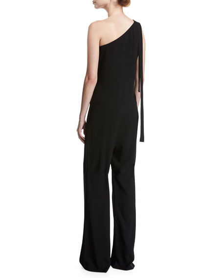d59da6d3a3fc Theory Eilidh Rosina Crepe One-Shoulder Jumpsuit