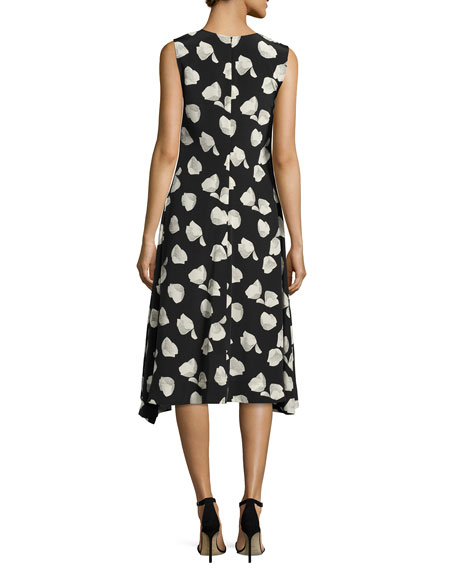 Nophella B Harper-Print Silk Dress, Multi