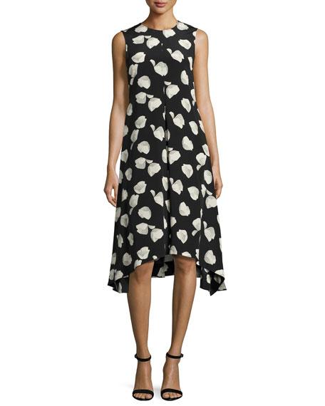 Theory Nophella B Harper-Print Silk Dress, Multi