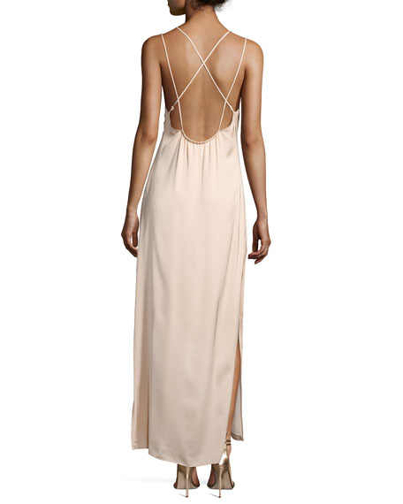Jericho Double Spaghetti Strap Maxi Dress, Blush