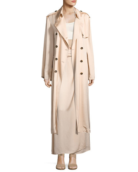 Aaron Oversized Trench Coat, Blush