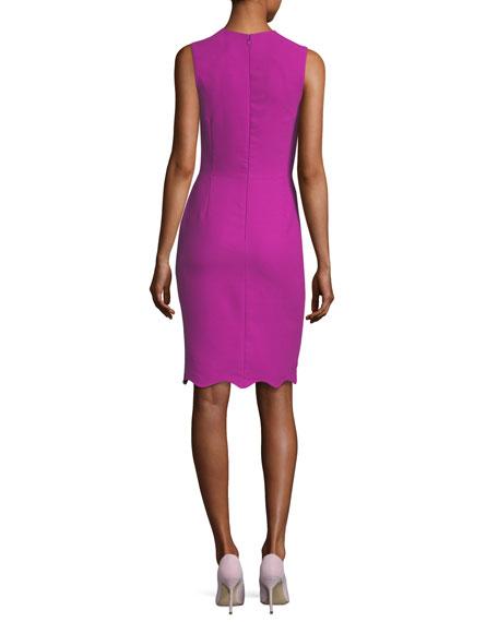 Jewel-Neck Sleeveless Cocktail Dress