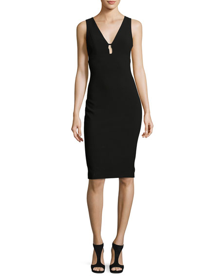 Likely Albury Cutout Sleeveless Sheath Dress, Black
