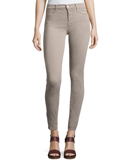 J Brand Maria High-Rise Sateen Super Skinny Pants,