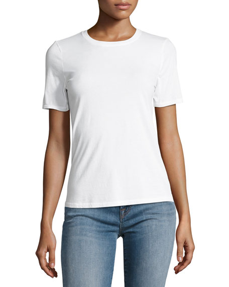 Colbee Short-Sleeve Cotton Tee, White
