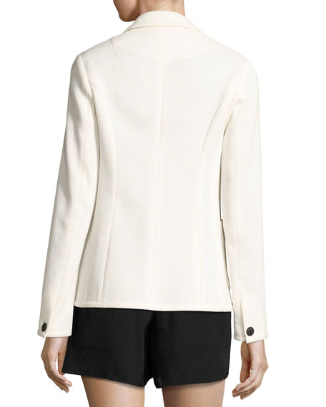 Redgrave Two-Button Blazer, Cream