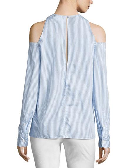 Collingwood Cold-Shoulder Long-Sleeve Top, Blue