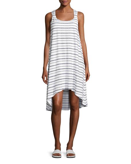 Heidi Klein Nassau Striped Twist-Back Dress, White