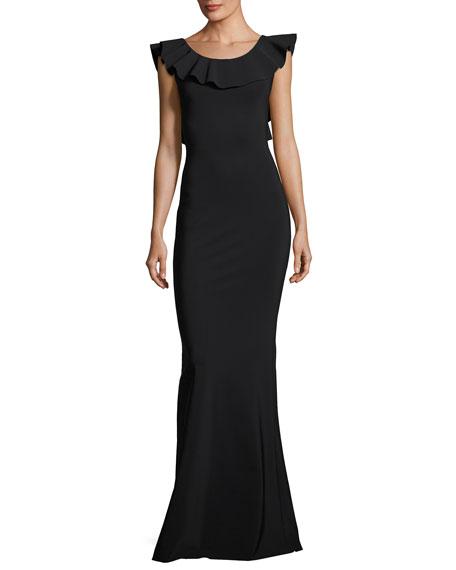 960e29fc71f Chiara Boni La Petite Robe Marika Sleeveless Ruffle Jersey Dress