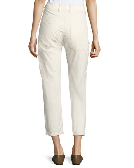 Utility Carpenter Straight-Leg Pants, Natural