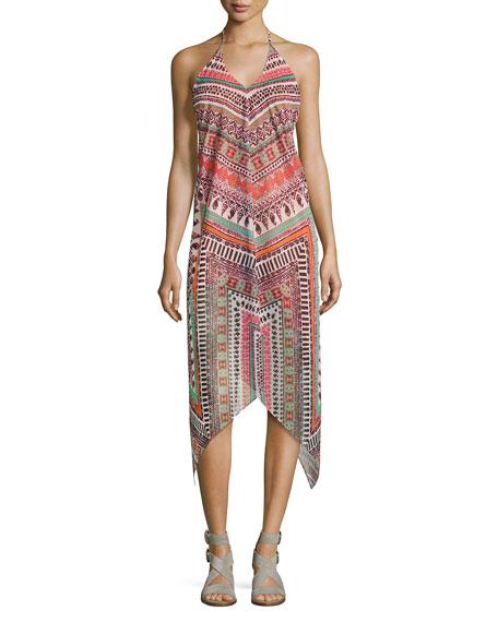 Ramy Brook Nadia Herringbone Printed Dress, Multi