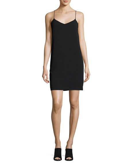 V-Neck Camisole Dress, Black