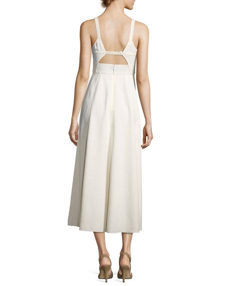 Cynthia Fit & Flare Sleeveless Cutout Dress