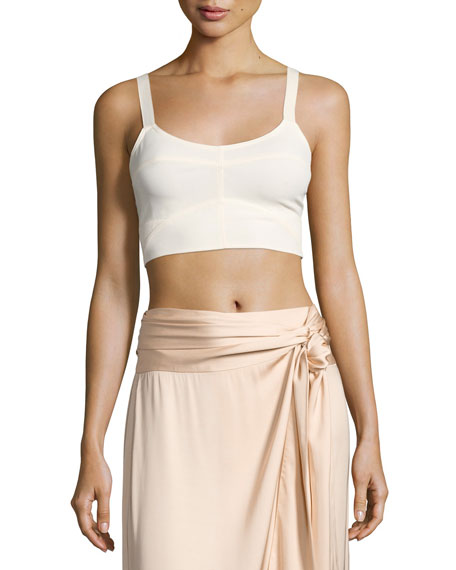 Elizabeth and James Chandler Cutout Bralette Top, Ecru