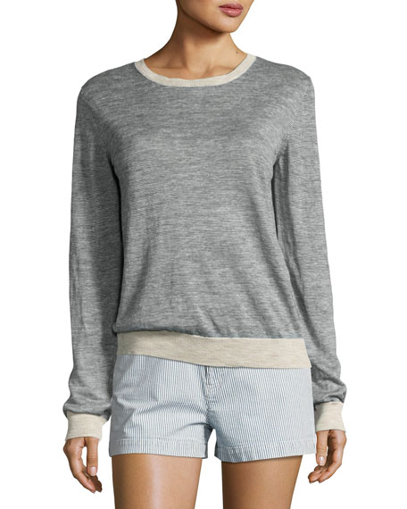 Pull Westward Knit Jersey Top, Indigo
