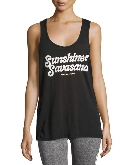 Sunshine & Savasana Aura Tank Top, Black