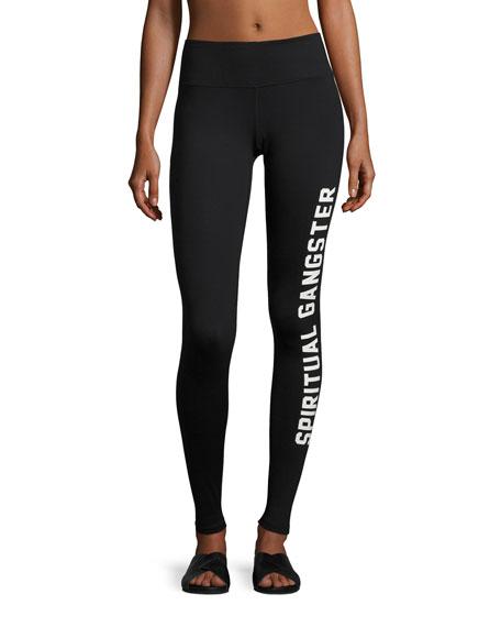 Collegiate Logo Practice Performance Leggings, Black