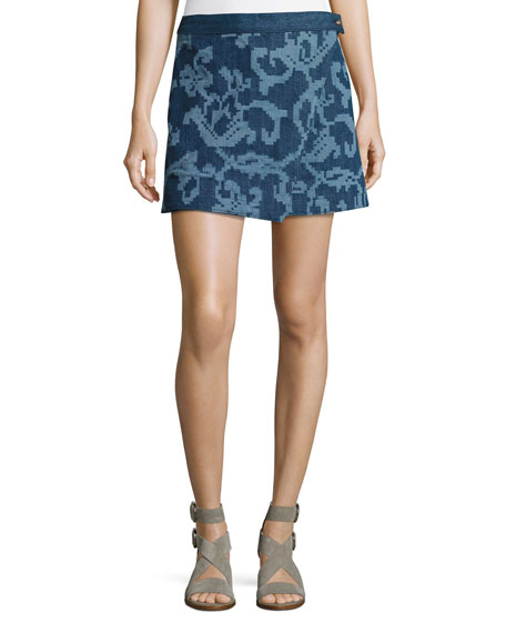 Rag & Bone Marina Jean Mini Skirt, Indigo