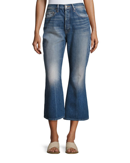 FRAME Rigid Release Le Crop Flare Denim Jeans,